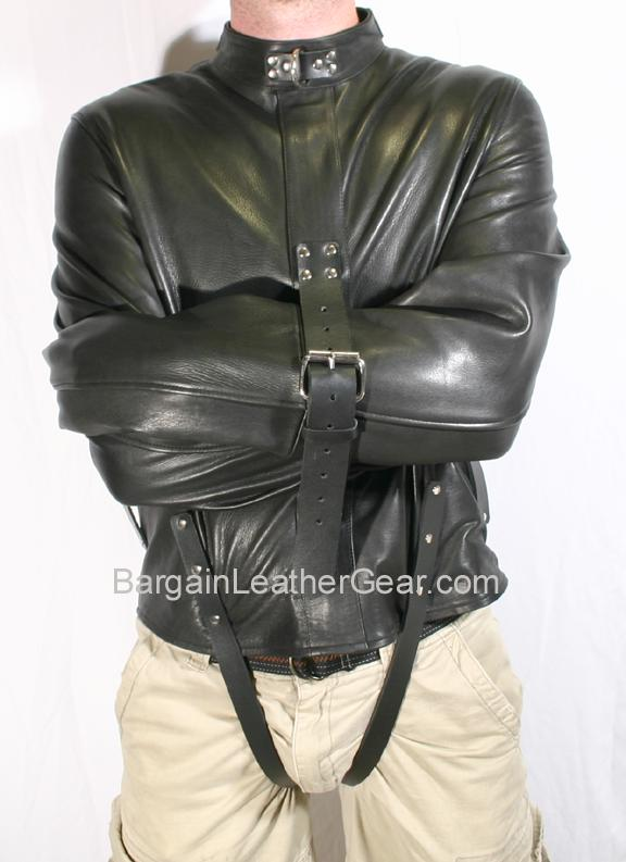 Leather Straight Jacket - JacketIn